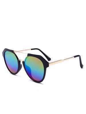 Metal Full Frame Crossbar Sunglasses - Color