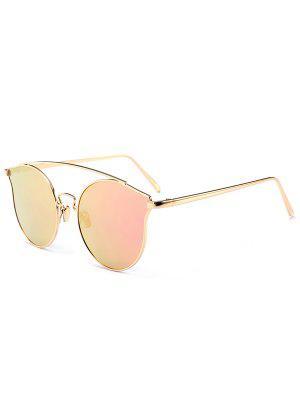 Óculos de Sol em Metal com Borda Completa - Rosa