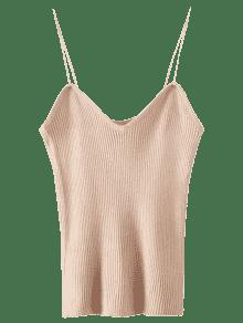 Cami Knitting Ribbed Tank Top