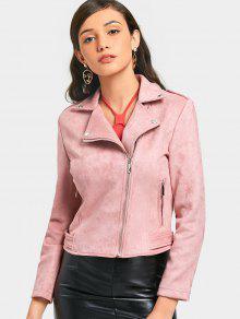 99b4b9722b Asymmetric Zippered Faux Suede Jacket; Asymmetric Zippered Faux Suede  Jacket ...
