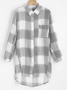 Chemise Haute à Bas Prix - Gris S