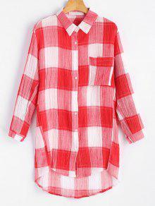 Chemise Haute à Bas Prix - Rouge S