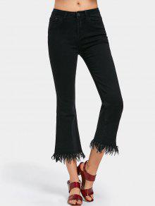 جينز مهتريء بوت كات - أسود M