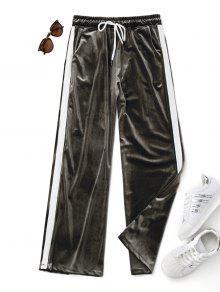 Pantalones De Terciopelo De Dos Tonos - Verde Del Ejército