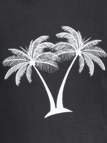Xl Palma Coco Bordada Negro De Sudadera CgvgwXfq