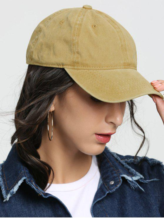 outfit Outdoor Lines Embroidered Baseball Hat - YELLOW