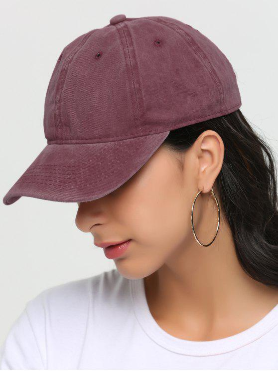 chic Outdoor Lines Embroidered Baseball Hat - RED