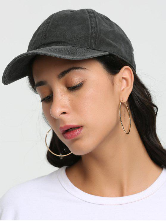 womens Outdoor Lines Embroidered Baseball Hat - BLACK