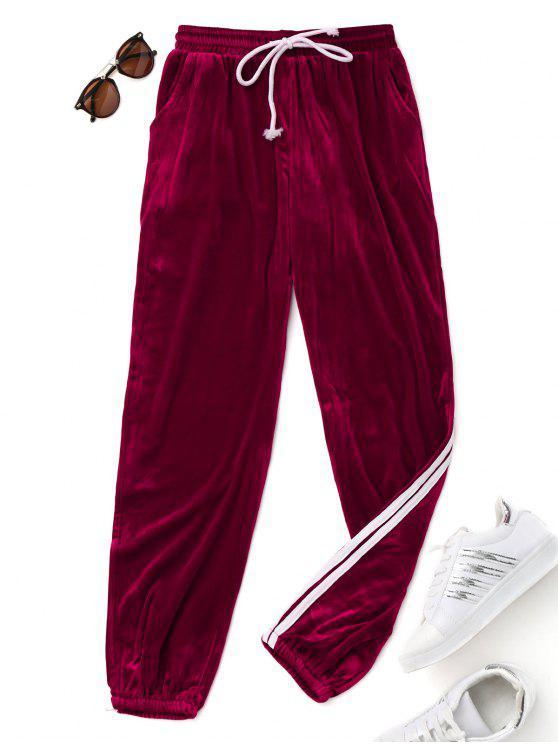 Pantalones de cordón de terciopelo - Burdeos M