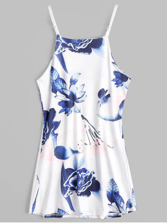 Blumendruck Mini Cami Sommerkleid - Blumen M