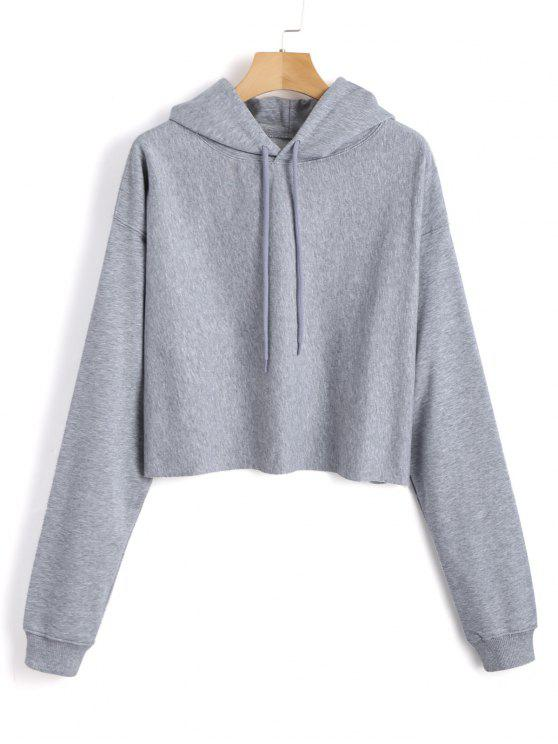 fancy Pullover Plain Tunic Hoodie - GRAY ONE SIZE