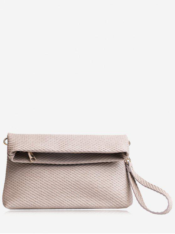Fold Over Multi Function Clutch Bag - Cinza Claro