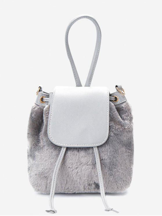 a7e700f82 28% OFF] 2019 Fluffy Drawstring Cross Body Bag In GRAY | ZAFUL