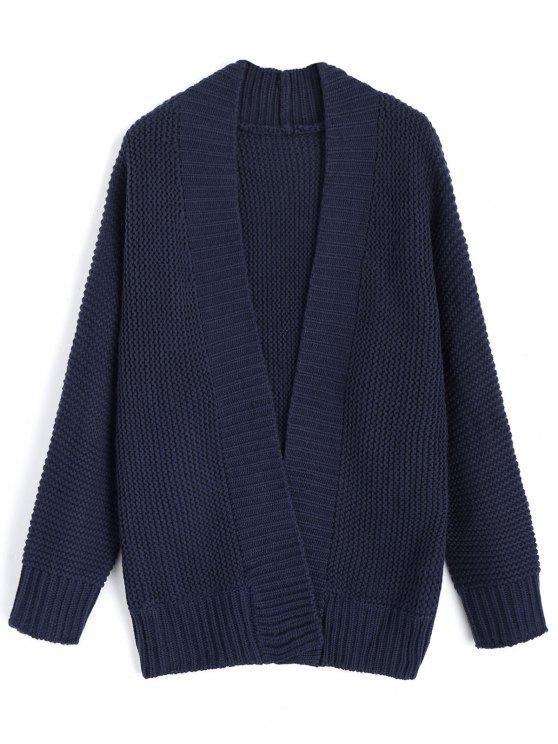 Cardigan à manches longues - Bleu Violet TAILLE MOYENNE