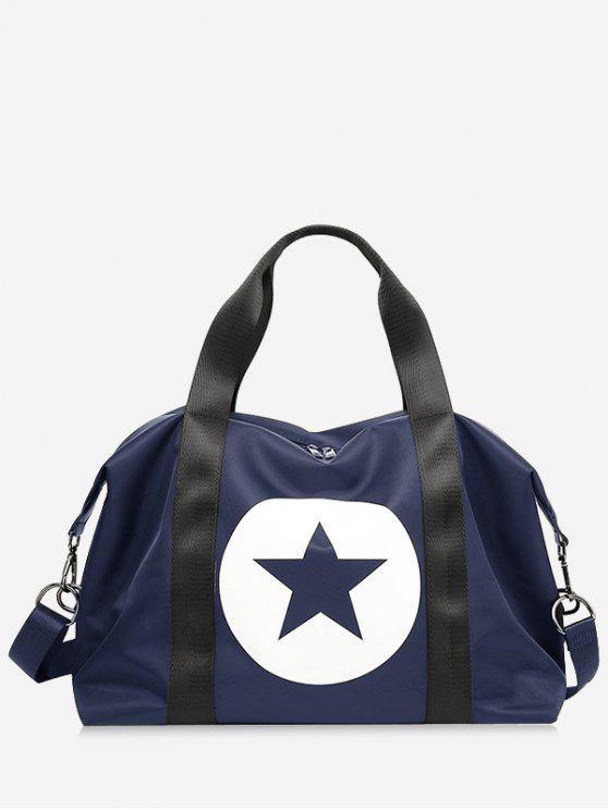 Star Color Block Gym Bag - Bleu