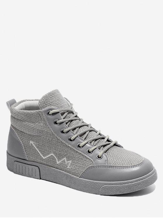 chic High Top Line Splicing Skate Shoes - GRAY 40
