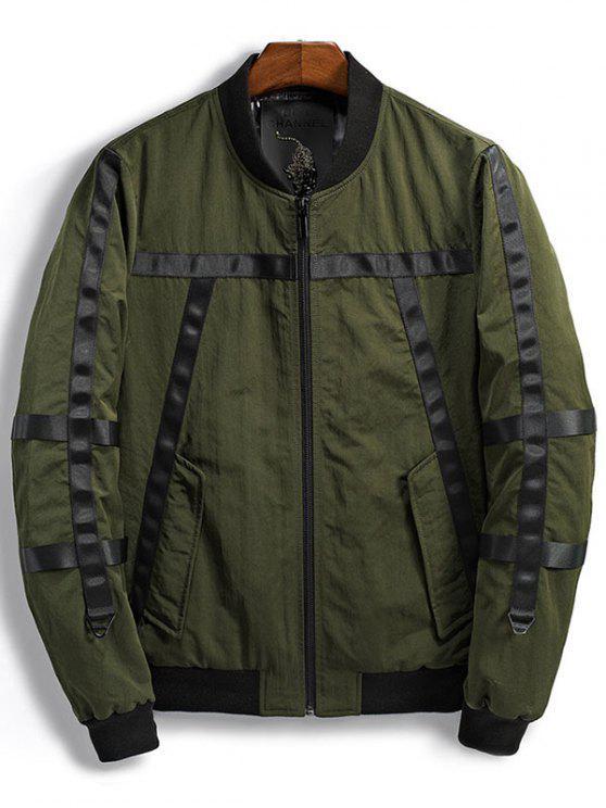 Design del nastro Zip Up Bomber Jacket - verde  L