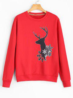 Christmas Reindeer Sweatshirt - Red S
