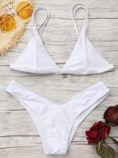 Cami High Cut Tanga Bikini Set - Weiß Xs
