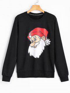 Christmas Santa Claus Sweatshirt - Black M