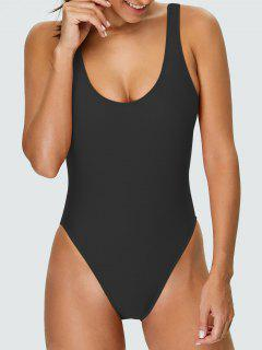 High Cut Backless Swimsuit - Black Xs