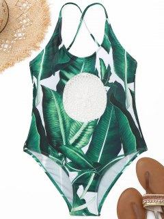 Maillot De Bain Palm Leaf En Crochet - S