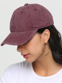 Outdoor Lines Embroidered Baseball Hat - Red