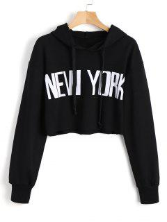 Cropped New York Tunic Hoodie - Black M