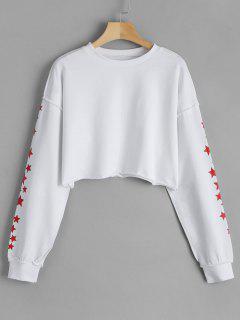 Sweatshirt à Capuche Pentagramme - Blanc