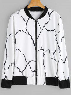 Graffiti Zip Up Jacket - Blanc Et Noir Xl