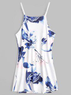 Blumendruck Mini Cami Sommerkleid - Blumen S