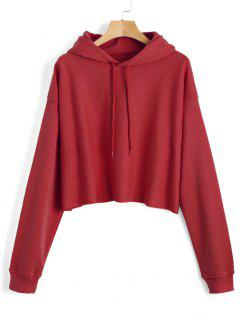 Pullover Plain Tunic Hoodie - Red