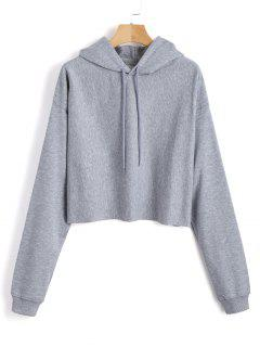 Pullover Plain Tunic Hoodie - Gray