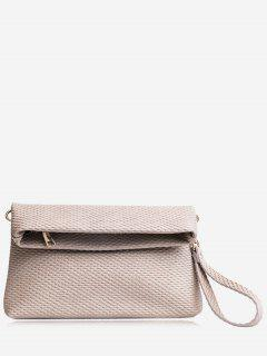 Fold Over Multi Function Clutch Bag - Light Grey