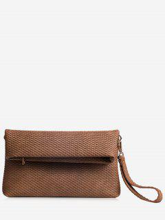 Fold Over Multi Function Clutch Bag - Coffee