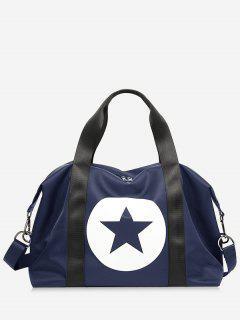 Star Color Block Gym Bag - Blue