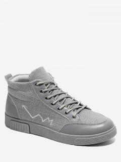 High Top Line Splicing Skate Shoes - Gray 40