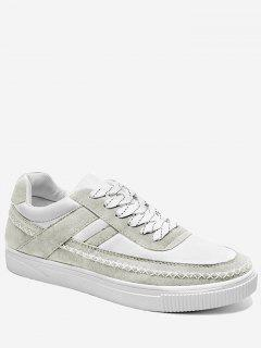 Stitching Criss Cross Color Block Skate Shoes - Gray 40