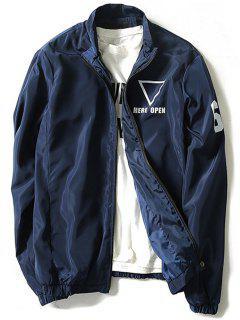 Geometric Print Windbreaker Jacket Men Clothes - Cadetblue 4xl