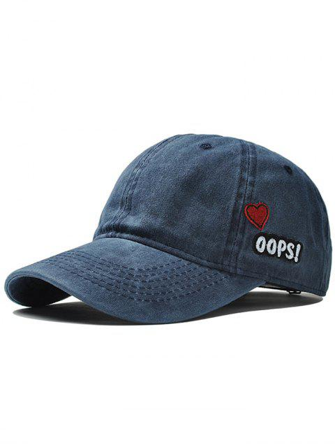 new Unique Letter and Heart Embroidery Baseball Cap -   Mobile