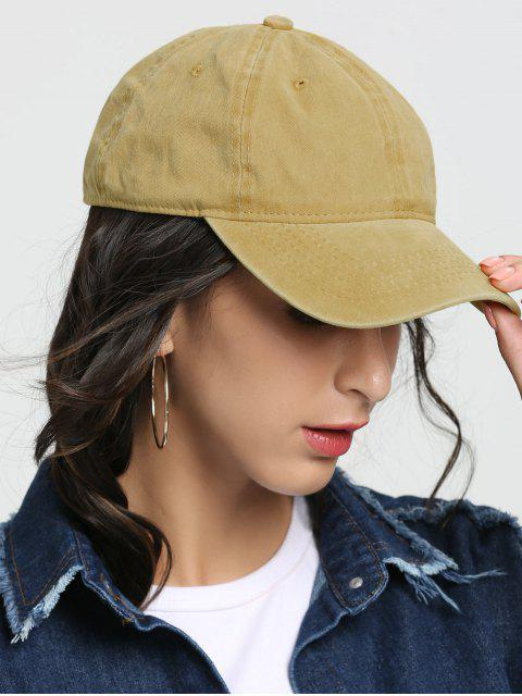 outfit Outdoor Lines Embroidered Baseball Hat - YELLOW  Mobile
