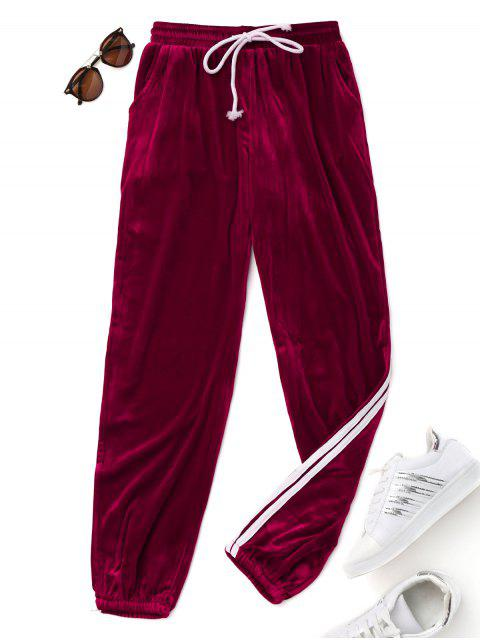 Pantalones de cordón de terciopelo - Burdeos M Mobile