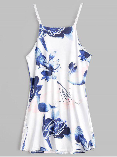 womens Floral Print Mini Cami Sundress - FLORAL M Mobile
