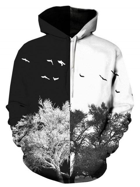 Baum 3D Print Pullover Hoodie Männer Kleidung - COLORMIX  3XL Mobile