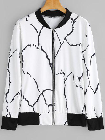 Zip Up Graffiti Jacket
