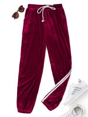 Pantalons à cordon en velours