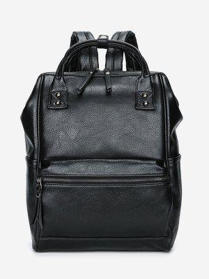 Top Handle Pebbled Faux Leather Backpack