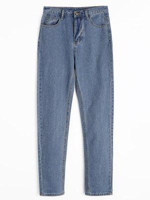 Reißverschluss Fliege Gerade Jeans Mit Taschen