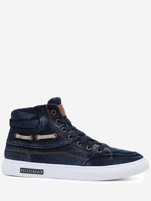 Stitching Denim Letter Skate Zapatos