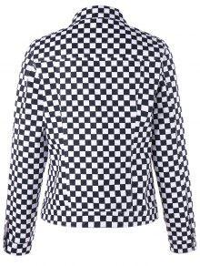 molto carino 4e74d 09744 Giacca a scacchi in tasca con zip